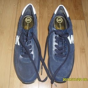 Michael Kors Blue Suede Sneakers Sz 8